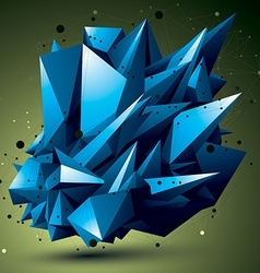Complicated abstract colorful 3d shape digital vector
