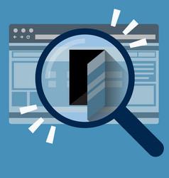 door in internet browser data security concept vector image vector image