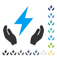 Electricity maintenance hands icon vector