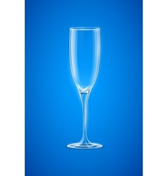 Empty Champagne Glass vector image vector image