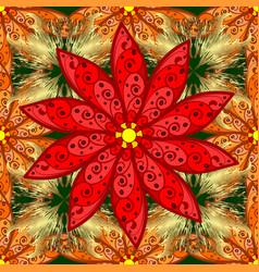 flat flower elements design seamless background vector image vector image