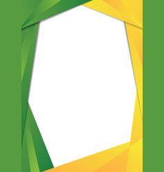green and yellow triangle frame border vector image vector image