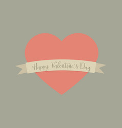 holiday card with heart for valentines day vector image