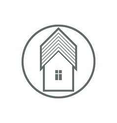 Home symbol estate agency emblem can be used in vector