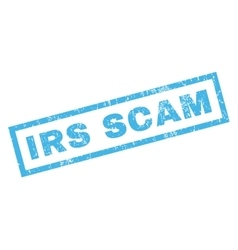 Irs scam rubber stamp vector