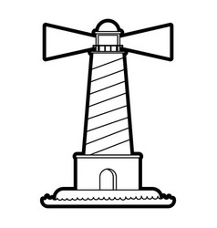 isolated lighthouse design vector image vector image