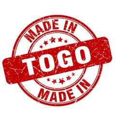 Made in togo red grunge round stamp vector