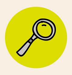 magnifying design vector image