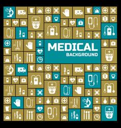 Medical square design background vector