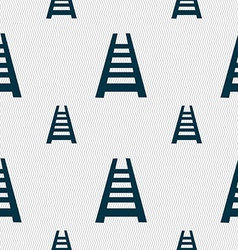 Railway track icon sign Seamless pattern with vector image