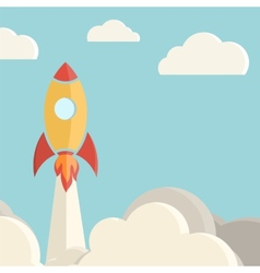 Rocket launch background vector