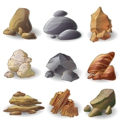 Rocks stones collection vector