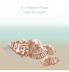 sea shell hand drawn vector image vector image