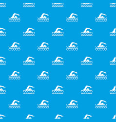 Swimmer pattern seamless blue vector