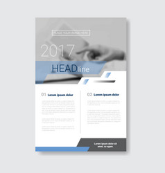 template design brochure annual report magazine vector image vector image