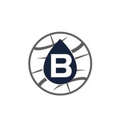 Water oil world letter b vector