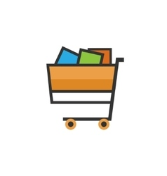 Cart isolated on white vector