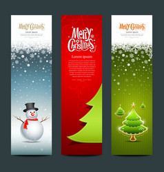 Merry christmas banner design set vector