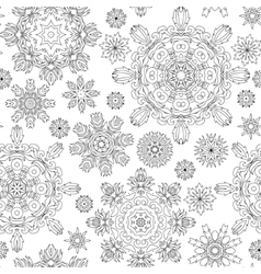 Christmas pattern from snowflakes for a card vector
