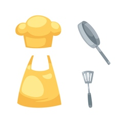 kitchen set isolated on white background vector image