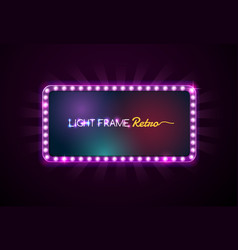 light frame vector image