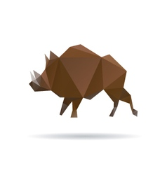 Wild boar abstract isolatedon a white backgrounds vector image