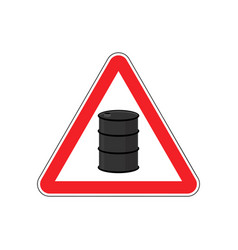 Oil attention sign symbol warning of dangerous vector