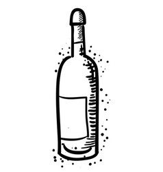 Cartoon image of wine bottle vector