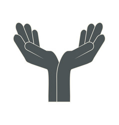 hands with palms open vector image