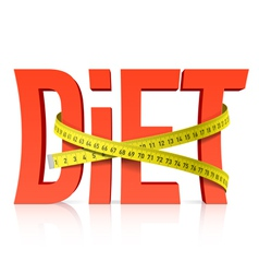 Diet with measuring tape vector