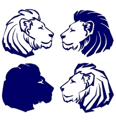 Lion icon sketch collection cartoon vector