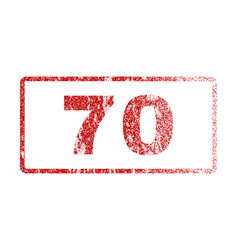 70 rubber stamp vector image vector image
