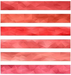 Red banner background set vector