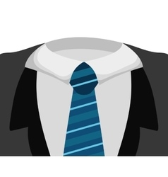 Necktie icon suit male part design vector