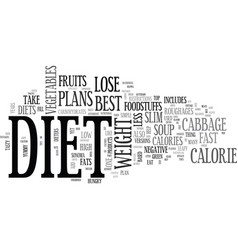 best diets to lose weight text word cloud concept vector image vector image