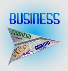 Business words logo vector image vector image