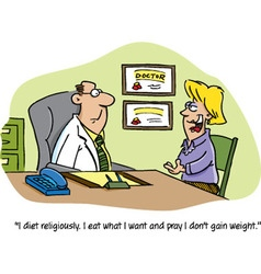Cartoon doctor and patient vector image vector image