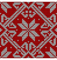 Christmas knitting pattern vector
