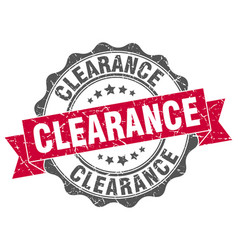 Clearance stamp sign seal vector