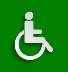 disabled sign paper whitish vector image