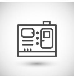 Electric generator line icon vector image vector image