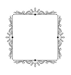 Elegant stylish black vintage square frame vector