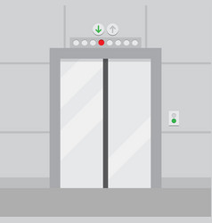 elevator with closed door vector image