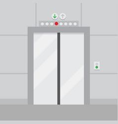 elevator with closed door vector image