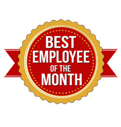 Employee of the month label or stamp vector