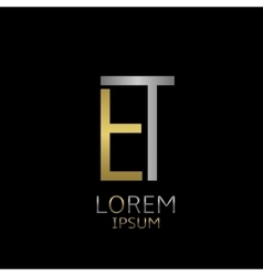 ET letters logo vector image vector image