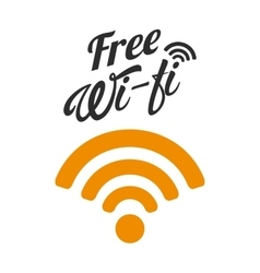 Free wifi design vector