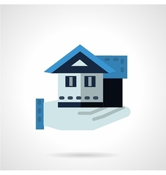 Hand with house flat color icon vector image