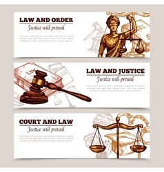 Horizontal law banners vector