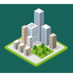 Isometric 3D city icons vector image vector image